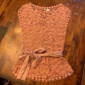 Crochet Belted Top